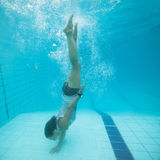 Underwater in a pool Royalty Free Stock Photos