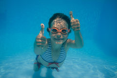 Underwater portrait of child Royalty Free Stock Images