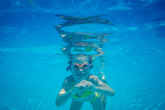 Underwater portrait of child Stock Photo