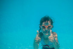 Underwater portrait of child Royalty Free Stock Photo