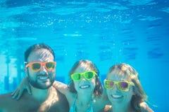 Underwater portrait of family Stock Image
