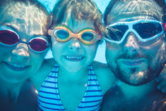 Underwater portrait of family Stock Image