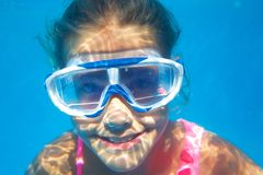 Underwater portrait girl Royalty Free Stock Image