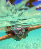 Underwater Portrait of a Yong Woman Stock Photo