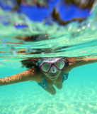 Underwater Portrait of a Yong Woman Royalty Free Stock Photography
