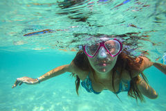 Underwater Portrait of a Yong Woman Royalty Free Stock Photo