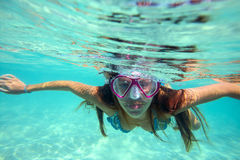 Underwater Portrait of a Yong Woman Royalty Free Stock Photos