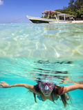 Underwater Portrait of a Yong Woman Stock Images