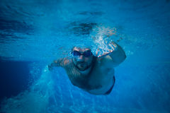 Underwater portrait of young man Royalty Free Stock Image
