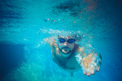 Underwater portrait of young man Stock Image
