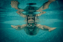 Underwater portrait of young man Stock Photography