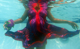 Underwater Pregnancy Royalty Free Stock Images