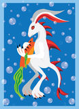 Underwater rabbit Royalty Free Stock Photo