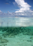 Underwater rachado do Seascape Foto de Stock