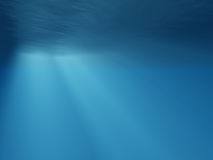 Underwater rays of light Stock Images