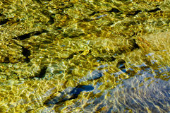 Underwater reflection of rocks Royalty Free Stock Photography