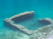 Underwater ruin - stone building Royalty Free Stock Image