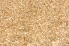 Underwater sand on the beach by the sea. Underwater sand on the beach by the sea on sunshine day Stock Photography
