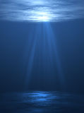 Underwater scene. Beautifull under water scene with sun lights Royalty Free Stock Photos