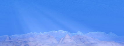Underwater scene - 3D render Royalty Free Stock Images