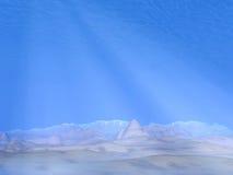 Underwater scene - 3D render Stock Image