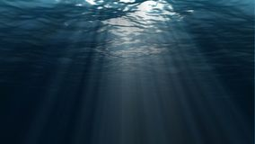 Underwater scene. Large popular marine background. High-quality loop animation of ocean waves. The rays of light shone. Large popular marine background stock video