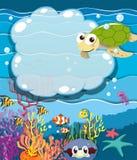 Underwater scene with sea animals Royalty Free Stock Photos