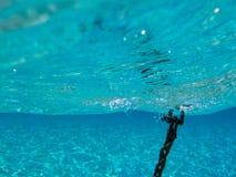 Underwater scene in tropical sandy beach, Koufonisi island, Crete. Royalty Free Stock Image