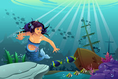 Underwater Scene vector illustration