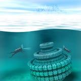 Underwater scenery illustration Royalty Free Stock Image