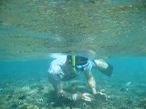 Underwater schwimmen Lizenzfreie Stockfotos