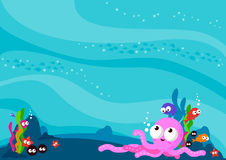 Underwater sea animals background Stock Photo