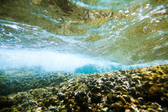 Underwater sea bubbles background Royalty Free Stock Photo