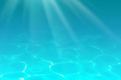 Underwater sea, ocean or pool depths background Stock Photos