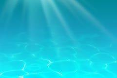Underwater sea, ocean or pool depths background Stock Photos