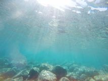 Underwater sea scene Royalty Free Stock Photography
