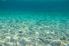 Underwater sea view background Royalty Free Stock Photography