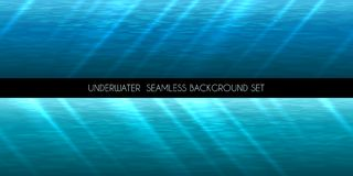 Underwater seamless background vector illustration Stock Images