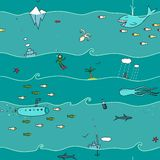 Underwater Seamless Pattern Stock Photography