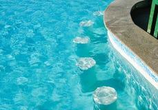 Underwater seats in pool Stock Image