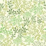 Underwater seaweed garden seamless pattern Stock Photo