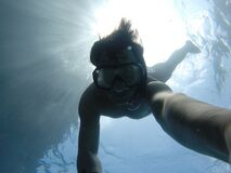 Underwater Selfie Royalty Free Stock Photo