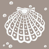Underwater  shell design Stock Image