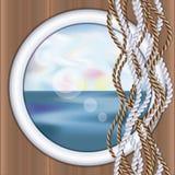 Underwater ship porthole wallpaper Royalty Free Stock Image