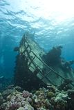 Underwater shipwreck of the Kormoran. Stock Images