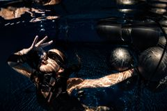 Underwater shoot royalty free stock image