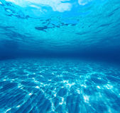 Underwater shot of the sea sandy bottom Royalty Free Stock Photo