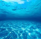 Underwater shot of the sea sandy bottom Royalty Free Stock Photo