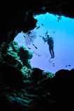Underwater silhouette in Banda, Indonesia Royalty Free Stock Photos