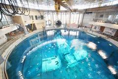 Underwater simulators in round pool Royalty Free Stock Photos